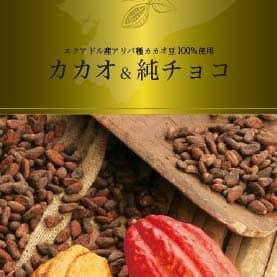カカオ製品商品紹介のリーフレット