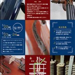 ピアノ教室ヴァイオリン展示会チラシ
